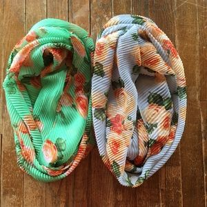 Accessories - Set of Two Infinity Scarves